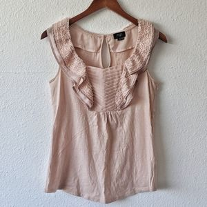 Anthropologie Pleated Ruffled Blouse